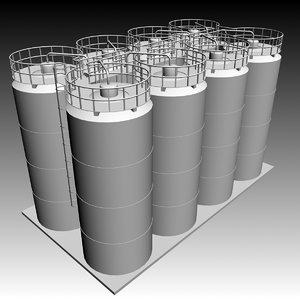 maya industrial tanks