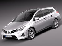 toyota auris touring sports 3d 3ds