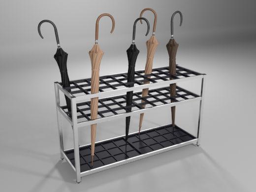 umbrella stand 3d