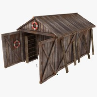 Wooden Plank Garage Shed Textured