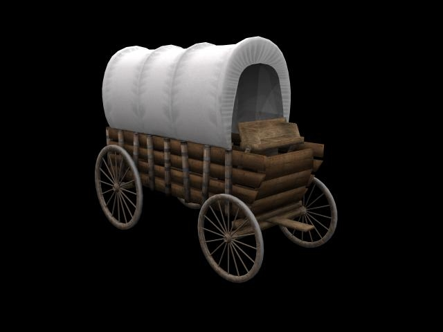 maya old western wagon
