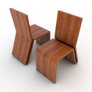 wooden chair 02 c4d
