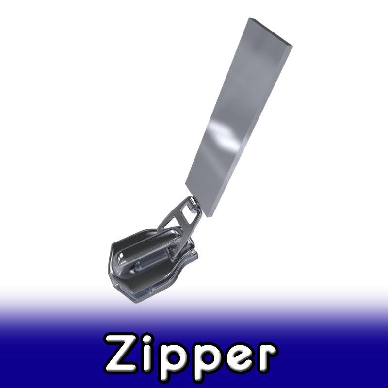 zipper 3 3d model
