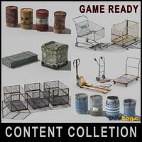 3d model content s barrel