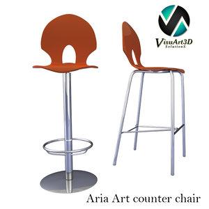 aria art chair materials 3ds