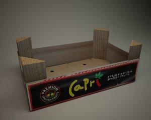 3d fruit box model