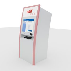 self check-in kiosk 3d max