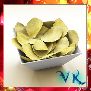 3d model of chips bowl
