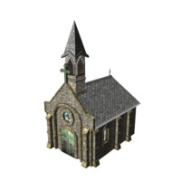 Church real time (max fbx obj 3DS DAE)