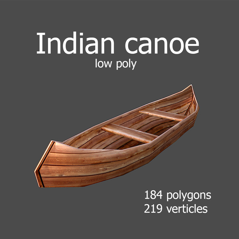 3d max indian canoe