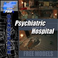 psychiatric hospital adams 3d max