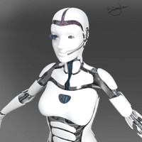 female cyborg obj