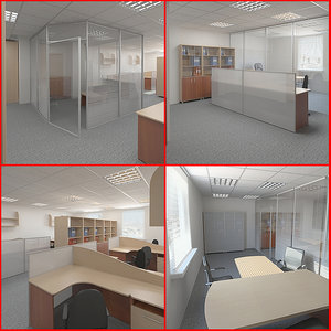 3d model office design