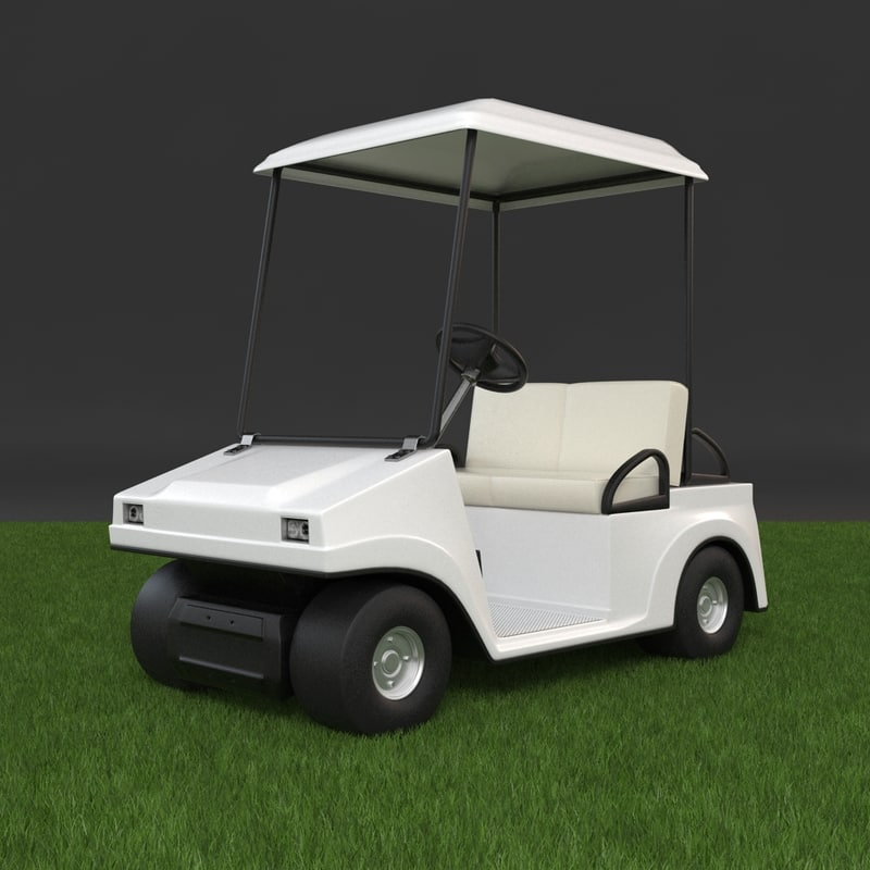 3d golf cart golfcart model