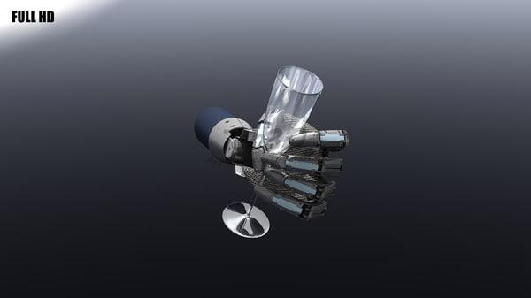 robotic hand 3d max
