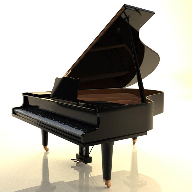 grand piano c4d