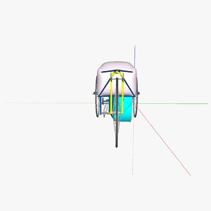 3d model e-velomobile velomobile