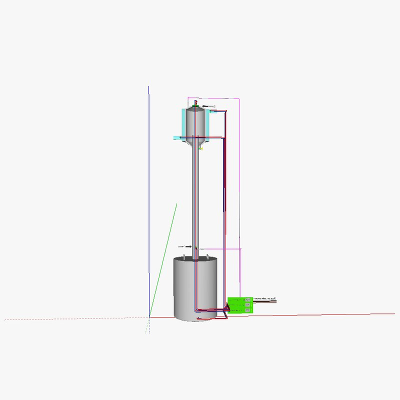 fractionating column 3d model