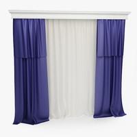3d curtains model