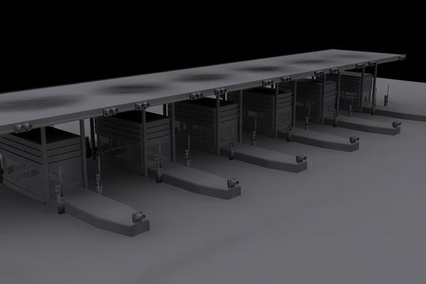3d toll gate model