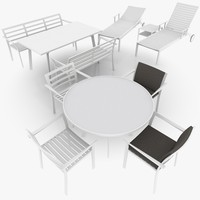 light patio furniture scene 3d obj