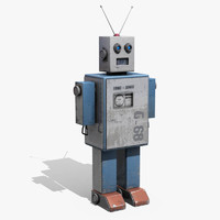 3d toy robot tin model