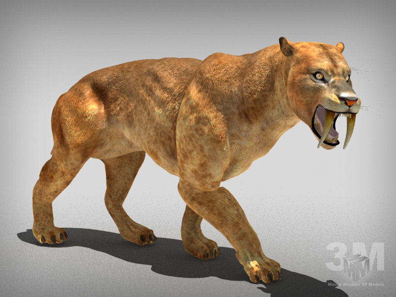 tiger lion extinct 3d max