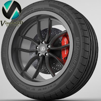 lexus rim tyre 3d model