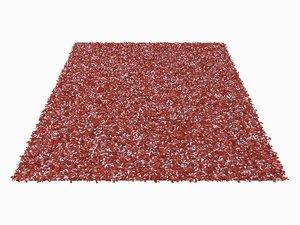 3d realistic red carpet model