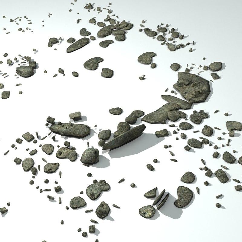 3d model concrete rubble