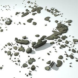 3d model concrete rubble