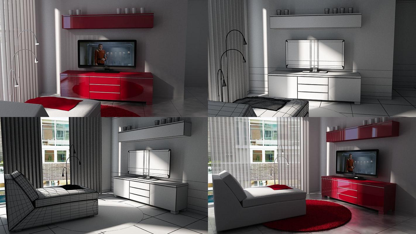 scene living room obj