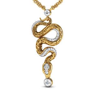snake pendant 3d model