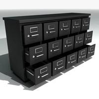 3d short filing cabinets model