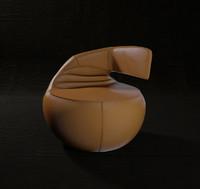 3d unique gisa chair model