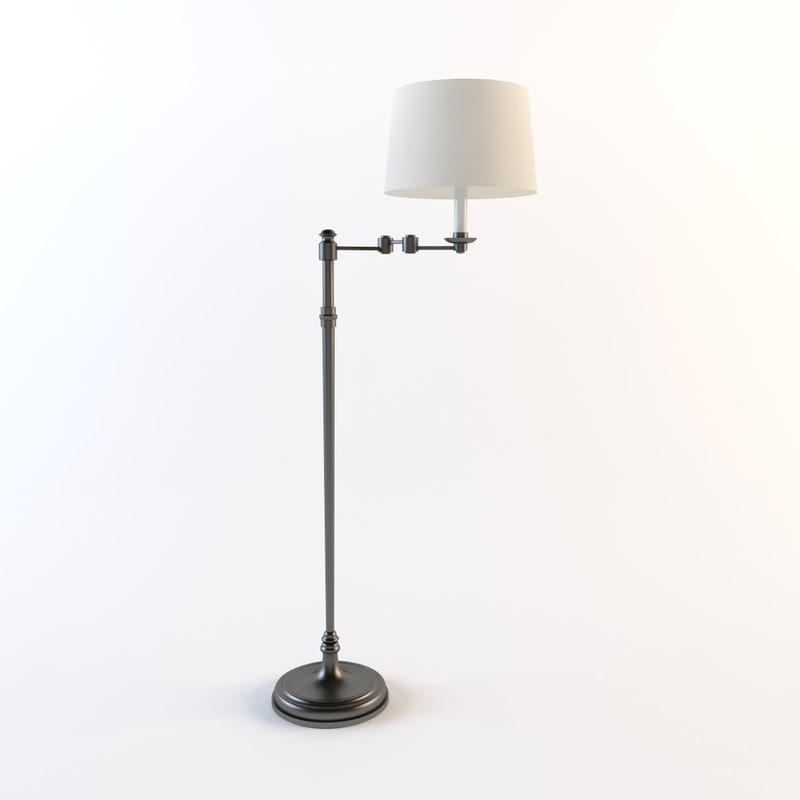 vaughan - stokesay floor lamp 3ds