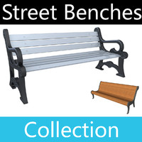 street benches 3d max