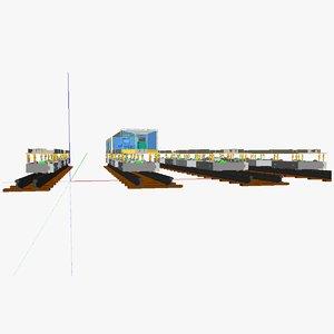 modular train ic 3d 3ds