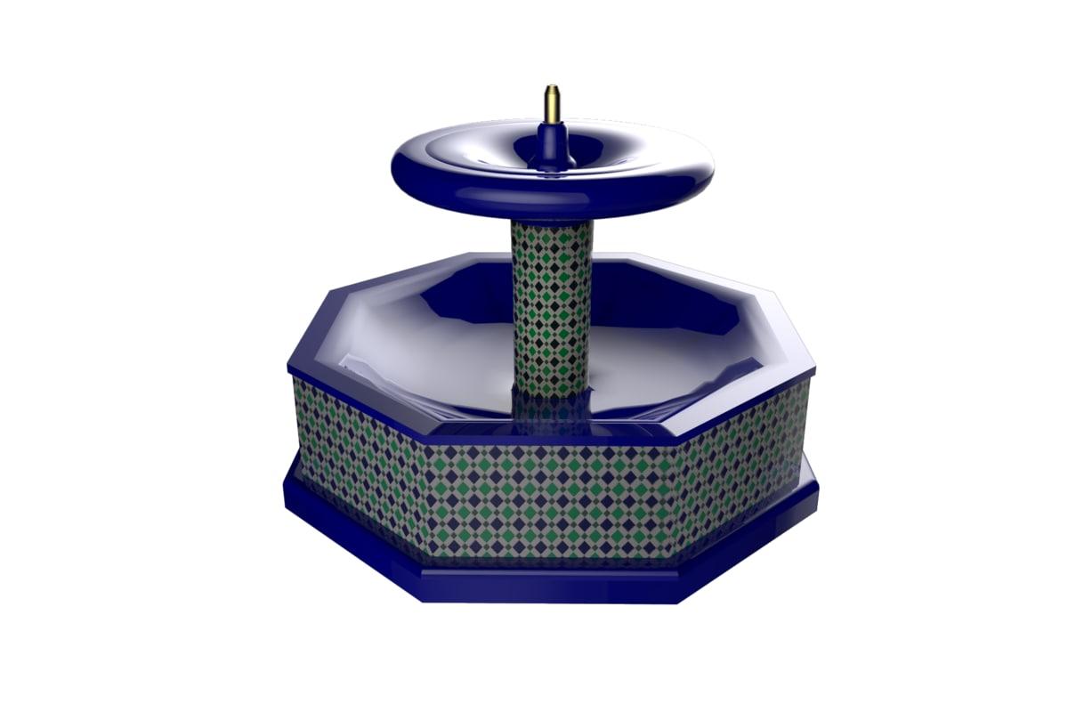 ma moroccan fountain style