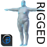 RIGGED Obese Man Base Mesh HIGH POLY