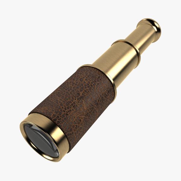 3d model pull telescope