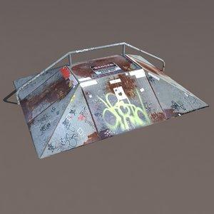 skate ramp modelled max