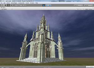 3d model clock tower
