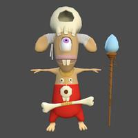 Rigged Cartoon Character Shaman
