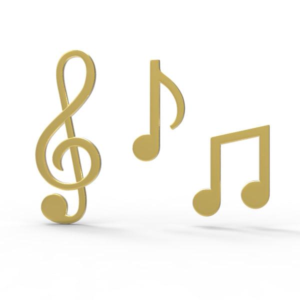 3d symbols music model