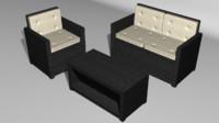3d model set outdoor furniture