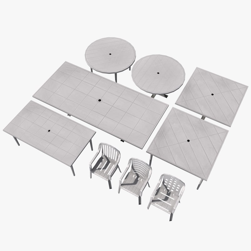 plastic table chair sets 3ds