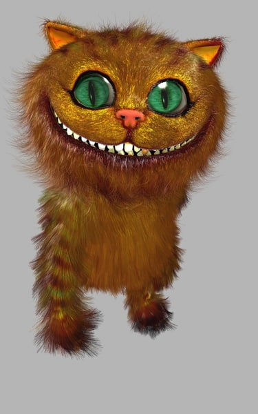 3d max character ginger cat hair