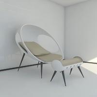 3d model of sofa gefeva lounge modern