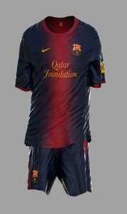 3d model soccer kits animation barcelona